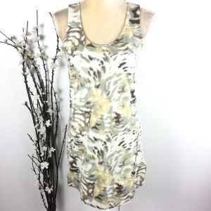 Free People White Camouflage Tank Top Dress